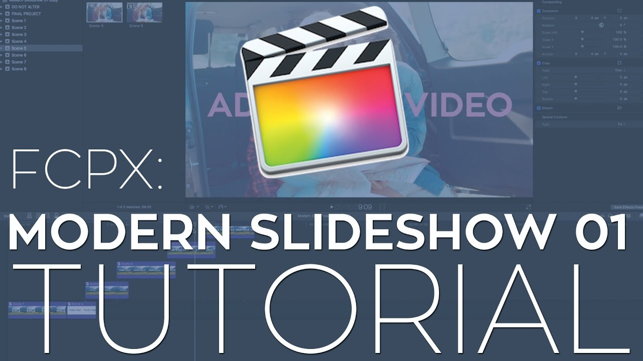 FCPX Modern Slideshow 01 Template Tutorial - YouTube