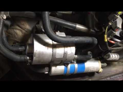Fuel pump and fuel filter location - YouTube