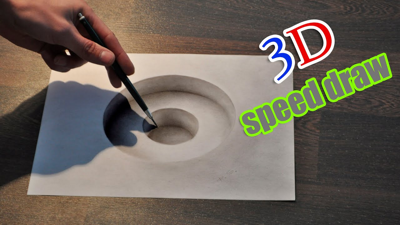 Drawing D Hole Illusion Anamorphic Painting YouTube - Anamorphic art looks real
