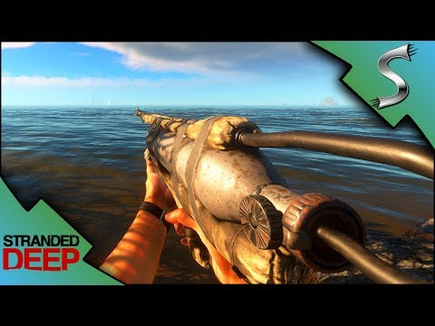 CRAFTING THE SPEARGUN! HUNTING AND KILLING STINGRAY! - Stranded Deep [Gameplay E11]