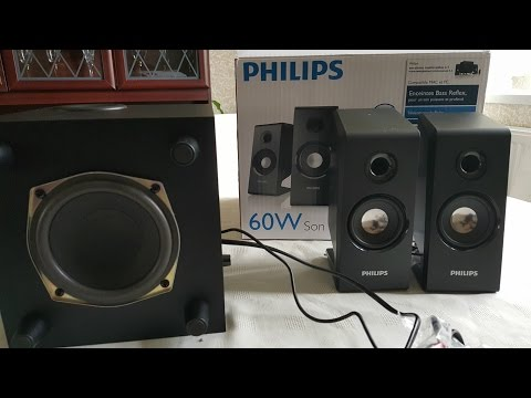 Phillips SPA2335/05 (60 WATTS 2.5  PC Speakers Unboxing )