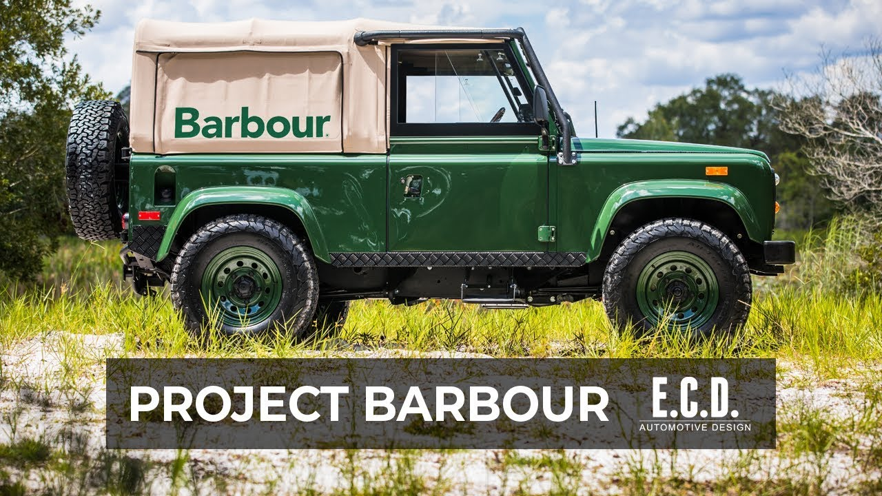 barbour land rover defender collection