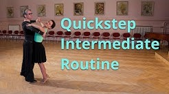 Quickstep Intermediate Dance Routine and Figures