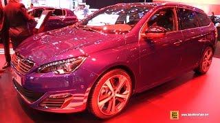 Video 2015 Peugeot 308 SW GT Line - Exterior and Interior Walkaround - 2015 Geneva Motor Show download MP3, 3GP, MP4, WEBM, AVI, FLV Juli 2018