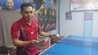 Servis Pendek isi dan kosong Tenis Meja - Teguh Orina dan Ridwan Garut - PTM LIGAMAS