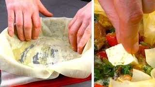 Stack 10 Thin Dough Sheets In The Skillet & Fill It With This – Spectacular!
