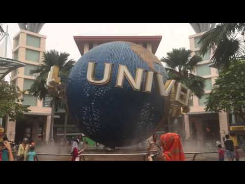Universal Studio Singapore - the globe at the main entrance