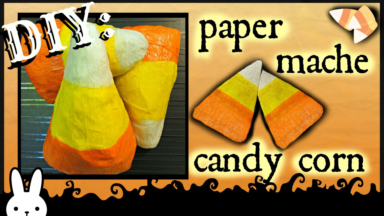 diy how to crepe paper mache candy corn halloween decor tutorial youtube - Candy Corn Halloween Decorations