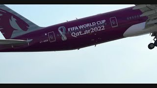 FIFA World Cup Qatar 2022TM livery heading to Zurich | Qatar Airways