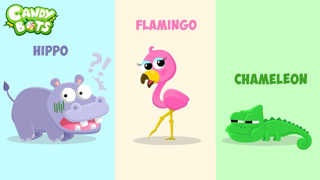 Candybots Animals - Learn name and animal sound - Apps for Kids ...
