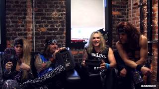 steel panther talks about the samson expedition express rechargeable battery pa with bluetooth