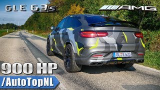 MERCEDES GLE 63 AMG 900HP BRUTAL! SOUNDS 308km/h TOP SPEED Onboard & REVS by AutoTopNL