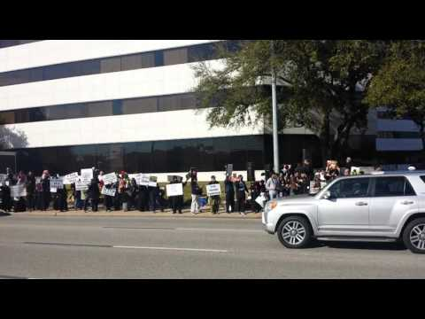 Houston protest in front of Saudi embassy S