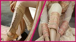 Stunning  Gold Diamante Embroidered Trousers