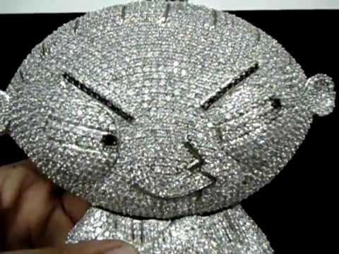 Mr chris da jeweler custom lab diamond 10 inch stewie pendant youtube mr chris da jeweler custom lab diamond 10 inch stewie pendant aloadofball Images