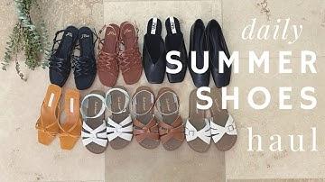 [SHOES HAUL] 👡데일리 여름 신발 8가지 하울 / 2만원대부터 10만원 이하 착한 가격 여름 신발 / 솔트워터, 망고, 자라, 제이크루
