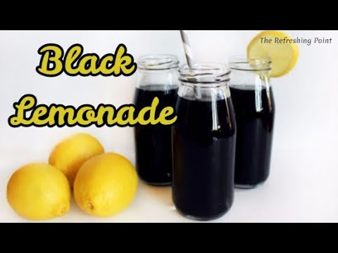 Black Lemonade the Cleansing Drink - Easy Way to Detoxify Your Body - Simple Recipe