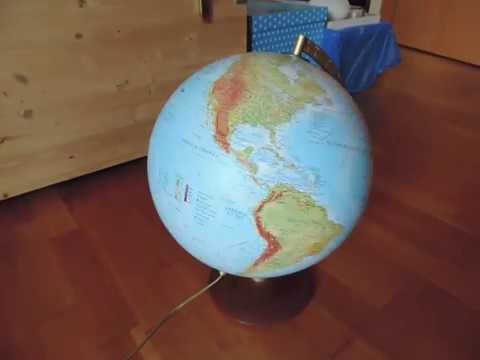 Test Animation - Stop motion - Globe spinning at various speed