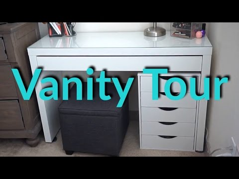 Vanity Tour + Makeup Collection 2017 | Lacy Keller
