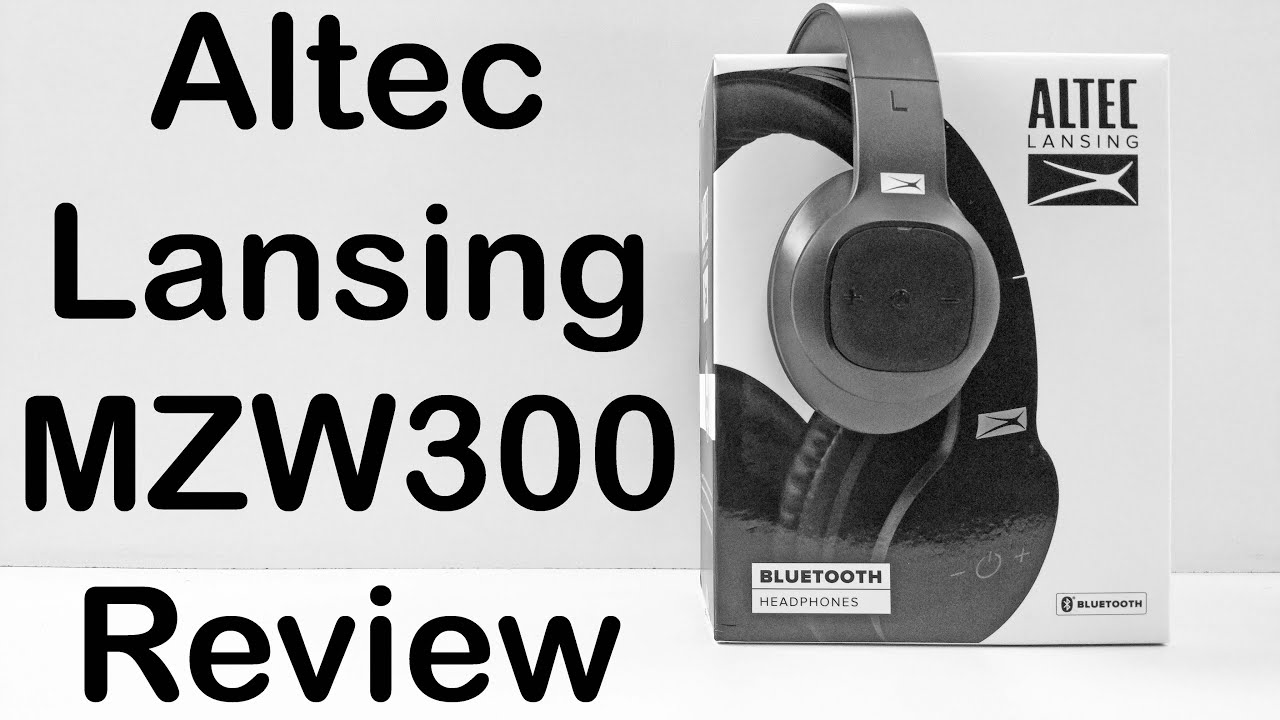 Altec Lansing MZW300 Review Over Ear Bluetooth Headphones