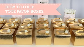 Gold Party Favors   Tote Favor Box Tutorial   BalsaCircle.com
