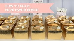 Gold Party Favors | Tote Favor Box Tutorial | BalsaCircle.com