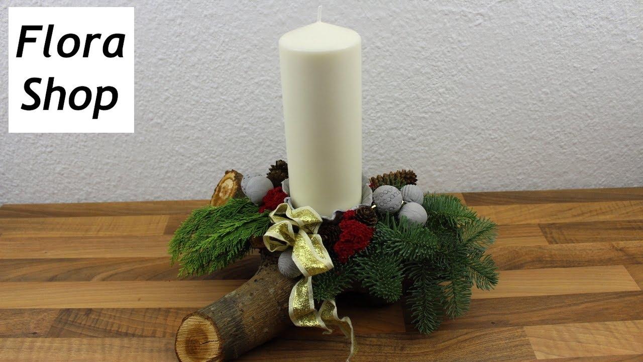 adventsgesteck weihnachtsdeko selber machen deko ideen mit flora shop youtube