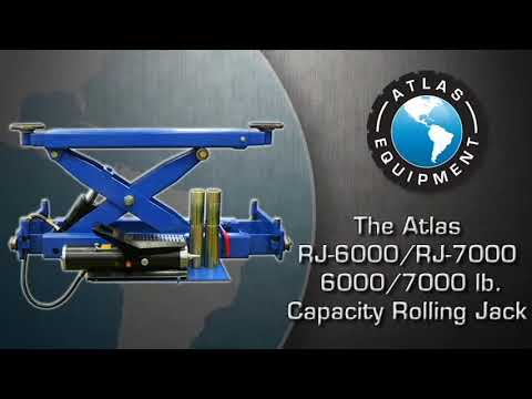 Atlas 412/414 Four Post Lift and RJ-6000/RJ-7000 Rolling Jack Combos