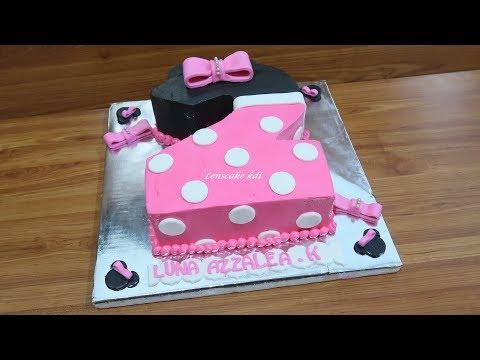 Cara Menghias Kue Ultah Cantik Untuk Anak Perempuan Minnie Mouse Angka 2