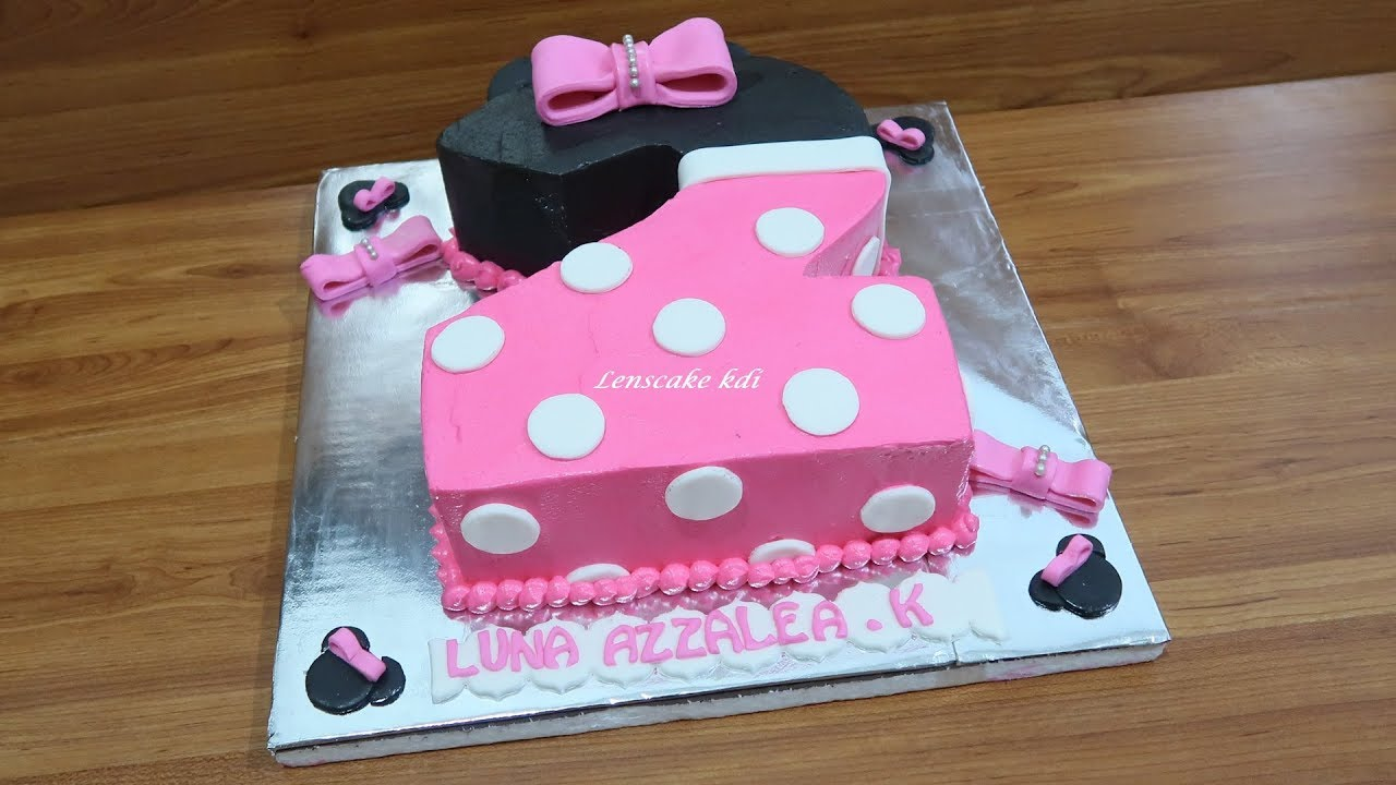 How To Decorating Cake Birthday Beautiful For Daughter Minnie Mouse Number 2