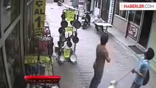 5  Kattan Düşen Damla'nın Ölüm Anı Güvenlik Kamerasında