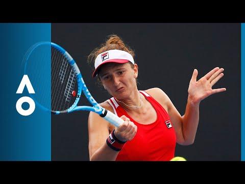 Irina-Camelia Begu v Ekaterina Makarova match highlights (1R)   Australian Open 2018