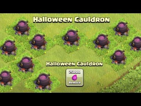 Clash Of Clans - OCTOBER NEW UPDATE! Cauldron, Dark Spells? Leaked Halloween Update 2015!
