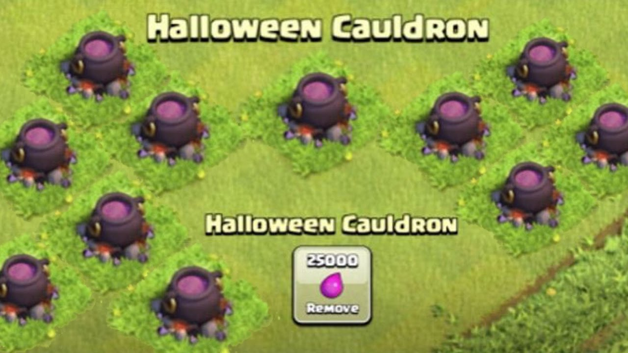Clash of Clans - OCTOBER NEW UPDATE! Cauldron, Dark Spells? Leaked ...