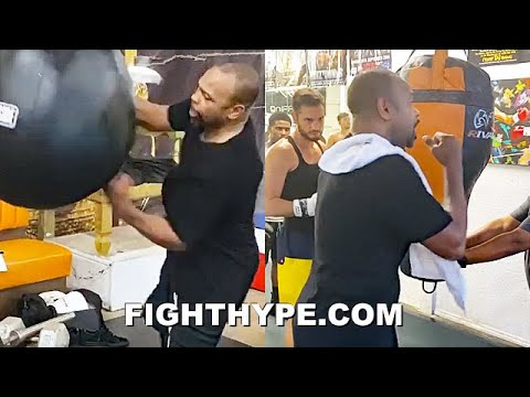 "ROY JONES JR. ""FINISH HIM"" NEW MIKE TYSON TRAINING LEAK; SCHOOLS NEXT GENERATION ON SIGNAT"