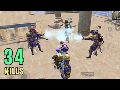 FULL Squad with MAX Pharaoh Suit X   PUBG Mobile