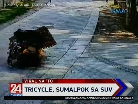 24 Oras: Tricycle, Sumalpok Sa SUV
