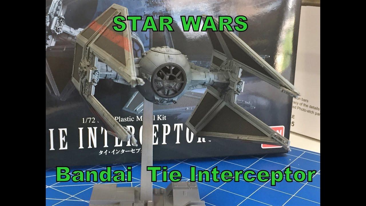 Building the Bandai 1/72 Star Wars Tie interceptor model