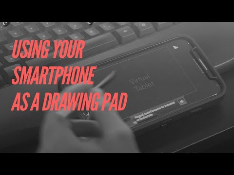 Using Smartphone to Draw with Virtual Tablet For PC