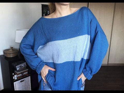 Как связать свитер оверсайз
