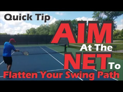 ONLINE VIDEO TENNIS TIPS | FIX the flight path of the swing