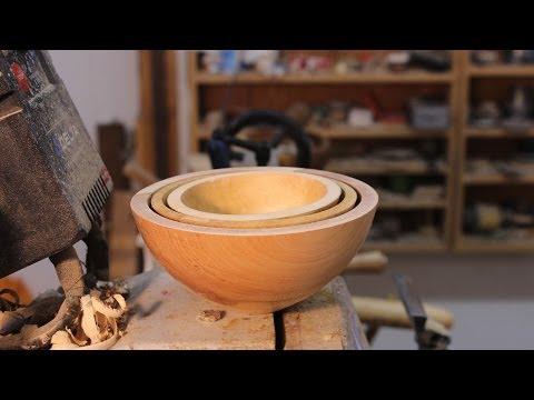 Turning an Oryoki Bowl Set