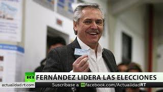Alberto Fernández lidera las elecciones primarias en Argentina