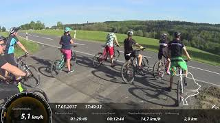 Mountainbike Fahrradtour im Westerwald BM-WB Mai 2017