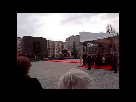 Warsaw Ghetto Uprising 70th Anniversary Ceremony and Speeches 4-19-13