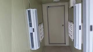 자외선대인방역기  에어커튼 추가 설치 작동영상
