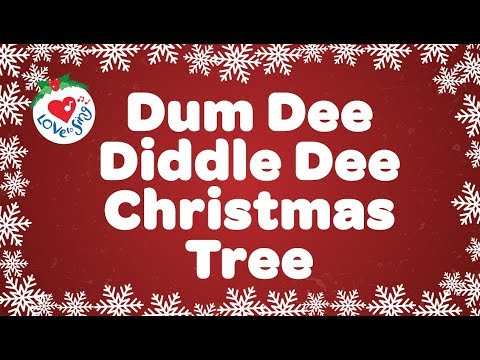 Dum Dee Diddle Dee Christmas Tree Song | Kids Christmas Songs | Children Love to Sing