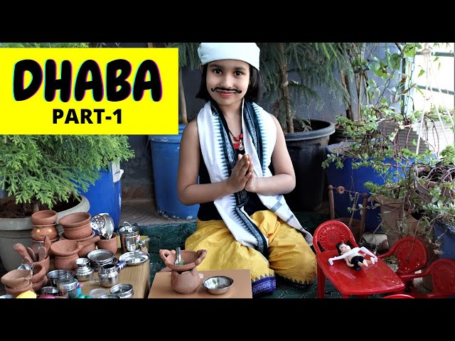 Cooking game in Hindi Part-22 / Dhaba Style Cooking / Kitchen set play  | #LearnWithPari