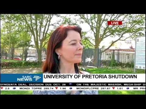 University of Pretoria shutdown