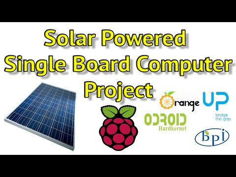 Solar Powered Raspberry Pi 3 with 7 Inch Touch Screen Solar Powered SBC